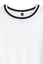 Short mesh top - White - Ladies | H&M CN 3