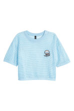 Short mesh top - Light blue - Ladies | H&M CN 2
