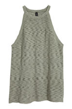 Fine-knit top - Khaki green - Ladies | H&M 2