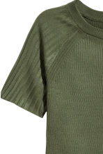 Ribbed Top - Khaki green - Ladies | H&M CA 3