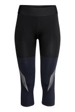 3/4-length sports tights - Dark blue marl -  | H&M IE 2
