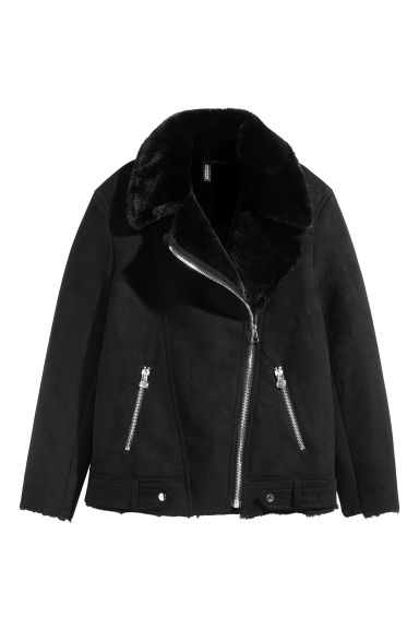 Imitation suede biker jacket Model