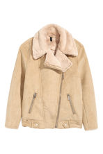 Imitation suede biker jacket - Beige - Ladies | H&M IE 2