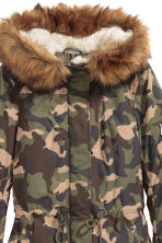 Padded parka - Khaki green/Patterned - Ladies | H&M GB 3