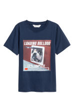 Printed T-shirt - Dark blue/Dog - Kids | H&M 2
