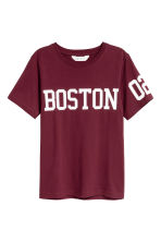 圖案T恤 - Burgundy/Boston - Kids | H&M 2