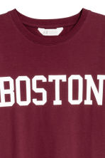 圖案T恤 - Burgundy/Boston - Kids | H&M 3