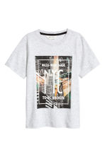 Printed T-shirt - Light grey/New York -  | H&M 2
