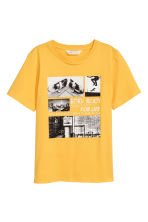 T-shirt avec impression - Jaune - ENFANT | H&M BE 2