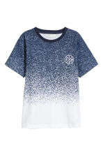 Printed T-shirt - White/Blue marl -  | H&M 2