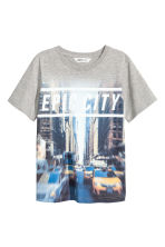 Printed T-shirt - Gray -  | H&M CA 2