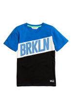 Printed T-shirt - Blue/Brkln - Kids | H&M CN 2
