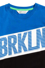 Printed T-shirt - Blue/Brkln - Kids | H&M CN 3