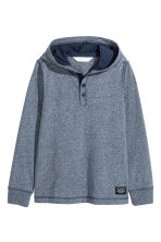 Jersey hooded top - Dark blue marl - Kids | H&M 2