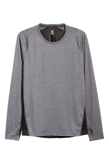 Long-sleeved running top - Black - Men | H&M IE