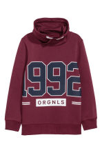 Funnel-collar sweatshirt - Burgundy -  | H&M CA 2