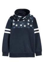 Chimney-collar Sweatshirt - Dark blue - Kids | H&M CA 2