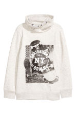 Chimney-collar Sweatshirt - Light gray melange - Kids | H&M CA 2