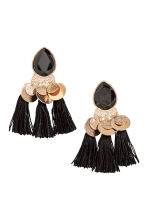 Earrings with tassels - Gold-coloured/Black -  | H&M GB 1