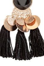 Earrings with tassels - Gold-coloured/Black -  | H&M GB 2