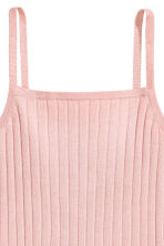 Ribbed strappy top - Powder pink - Ladies | H&M 3