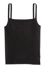Ribbed strappy top - Black - Ladies | H&M 2