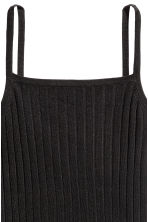 Ribbed strappy top - Black - Ladies | H&M 3