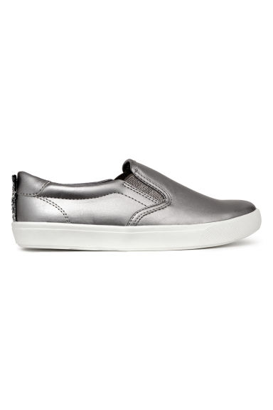 Slip-on trainers - Silver -  | H&M