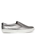 Slip-on trainers - Silver -  | H&M CN 1