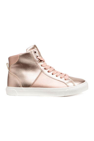 Hi-top trainers - Rose gold -  | H&M
