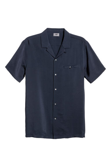 Short-sleeve shirt Regular fit - Dark blue - Men | H&M CN 1
