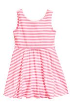 Jersey dress - Pink/Striped -  | H&M 2