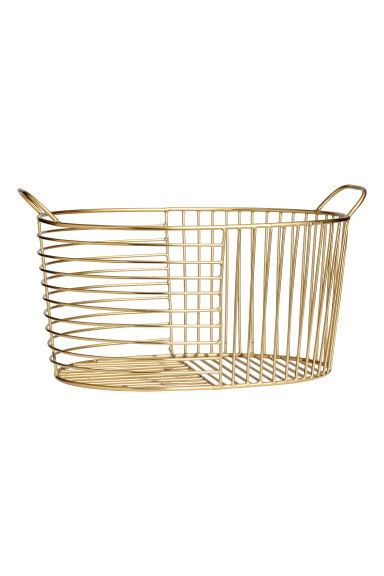 Metal wire basket - Gold - Home All | H&M IE