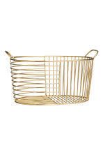 Metal wire basket - Gold - Home All | H&M GB 1