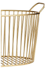 Metal wire basket - Gold - Home All | H&M GB 2