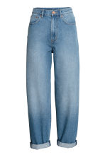 Relaxed Mom Jeans - 牛仔蓝 - Ladies | H&M CN 2