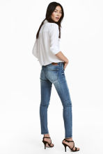 Skinny Low Trashed Jeans - Син деним - ЖЕНИ | H&M BG 4