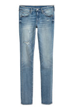 Skinny Low Trashed Jeans - Син деним - ЖЕНИ | H&M BG 2