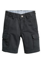 Cargo shorts - Black -  | H&M 2