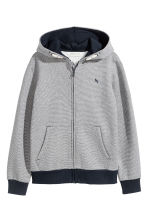 連帽外套 - Dark blue/Narrow striped - Kids | H&M 2