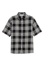 Camicia Regular fit - Nero/quadri - UOMO | H&M IT 2