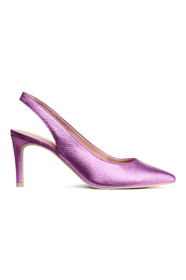 Slingbacks - Pink/Glittery - Ladies | H&M 1