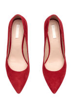 Court shoes with covered heels - Red - Ladies | H&M IE 2