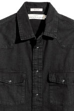 Denim shirt Regular fit - Black - Men | H&M 3