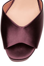 Satin platform sandals - Burgundy - Ladies | H&M CN 3