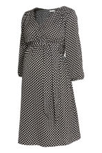 MAMA Patterned dress - Black/White spotted - Ladies | H&M 2