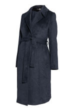MAMA Coat with a tie belt - Dark blue - Ladies | H&M CN 2