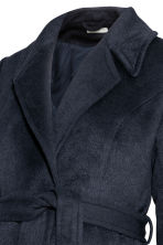 MAMA Coat with a tie belt - Dark blue - Ladies | H&M CN 3