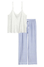 睡衣套裝 - Blue/White/Striped - Ladies | H&M 2