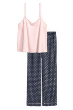 Pyjamas - Dark blue/Patterned - Ladies | H&M CA 2